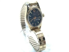 Vintage Timex Q Womens 16mm Watch, New Battery,  Working, Speidel Band - $28.00