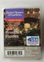 Better Homes & Gardens Holiday Edition Warm Fireside Flurries Wax Cubes 2.5 oz - $5.93