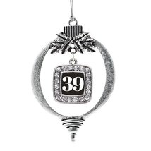 Inspired Silver Number 39 Classic Holiday Decoration Christmas Tree Ornament - $14.69