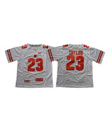 Men's NCAA TAYLOR Jersey #23 Wisconsin Badgers Jersey White - $40.99
