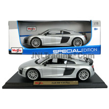 Maisto Special Edition 1:18 Die Cast Silver Sports Coupe AUDI R8 V10 Plus - $49.99