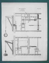 CRANES Mechanics - 1820 ABRAHAM REES Print - $11.25