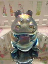 FENTON ART GLASS FAVRENE HIPPO FIGURINE - $95.00