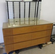 Antique 1940's RWAY Blonde Birdseye Maple Bedroom Dresser w/Mirror - $467.50