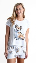 Dog Corgi pajama set with shorts for women - $30.00