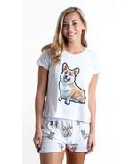Dog Corgi pajama set with shorts for women - $30.00