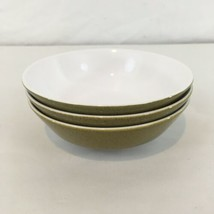 "Mikasa Mediterrania Avocado Green 4998 5 3/8"" Set of 3 Dessert Bowls (3) - $11.88"