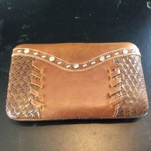 Montana West Clutch Wallet with Bling Basket Weave Snap Closure NWT W007... - $19.75