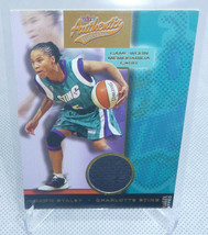 2002 Fleer Authentix WNBA Dawn Staley Auth. Game Worn Jersey Relic Card ... - $4.94