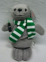 """Coca-Cola COKE CUTE SEAL WITH SCARF 8"""" Bean Bag STUFFED ANIMAL Toy NEW - $14.85"""
