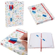 Lego White Journal With Red 4x4 Brick Blue  - $49.91