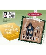 Merry Making Mini: Peace christmas cross stitch chart Heart in Hand - $6.30