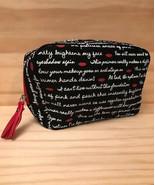 Laura Geller Make up / Cosmetics Bag Black & White Lettering with Red Li... - $8.79