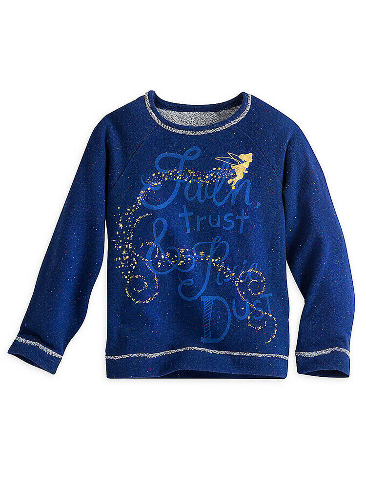 "Primary image for Disney Store Girls Tinker Bell ""Faith Trust & Pixie Dust"" Sweatshirt, Size 2"