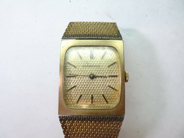 Longines L8474 Vintage Waffle Dial Watch Original Band Clasp For Restoration - $169.32