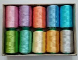 LOT - FLUORESCENT 150/2 Denier Viscose Rayon Thread Yarn Hand Machine Em... - $16.82