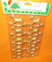 Misco Hard Plastic Rocking Horse Ornaments 10 Pieces #X6588G UPC:0314625... - $5.94