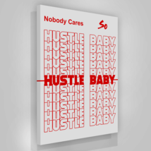 "Hustle Baby Canvas Print Office Wall Decor Modern Art Motivation 48"" x 36"" Inch - $172.75"
