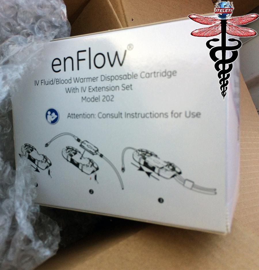 enFlow IV Fluid Blood Warmer Disposable Cartridge w/ IV Extension Set Model 202