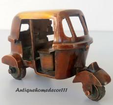 007 JAMES BOND TUK TUK TAXI (Auto Rickshaw) VINTAGE BRASS CAR MODEL - $49.49