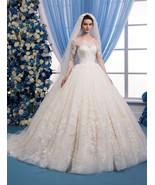 Ivory wedding dress lace Long sleeved wedding dress with ... - £1,218.65 GBP