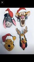 Disney Rubber Head Pins Eeyore, Pluto, Tigger, Winnie the Pooh - $40.00