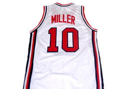 Reggie Miller #10 Team USA Men Basketball Jersey White Any Size image 5