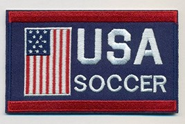 """Soccer Team USA Embroidered Iron-On Patch Size 4"""" x 2 1/2"""". World Cup. - $7.87"""