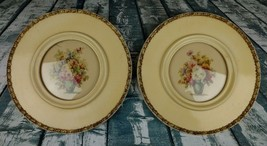 Pair Of Antique Round 11 Inch Framed Botanical Prints - $49.99