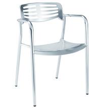 Fine Mod Imports Aluminum Dining Chair, Aluminum - $163.00