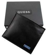 New Guess Men's Leather Credit Card Id Wallet Passcase Bifold Black 31GU22X018 image 2