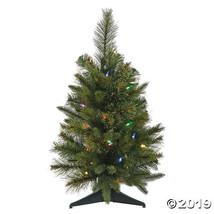 "Vickerman 24"" Cashmere Pine Christmas Tree with Multi-Colored LED Lights - $56.50"