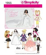 Simplicity 1955 Wedding Doll Clothes Sewing Patterns, for 10.5'', 11.5''... - $8.79