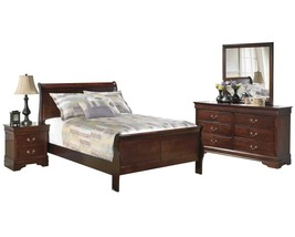 Ashley Alisdair 4PC Bedroom Set Cal King Sleigh Bed - Brown - $1,620.19