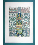 PERSIA Persian Tile Ornaments Patterns - COLOR Litho Print A. Racinet - $22.95