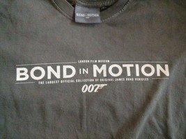 S Bond In Motion London Film Museum O07 Vehicles Shirt No Time Die Skyfa... - $9.46