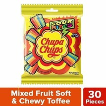 Chupa Chups Sour Bites Mixed Fruit Soft Chewy Toffee 30 pcs Free Shipping - $6.43