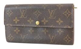 Authentic LOUIS VUITTON Sarah Long Wallet Monogram Zippered Coin Purse #... - $134.10