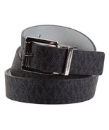 Michael Kors Women's MK Logo Premium Leather Reverisble Belt Black 551508 - $42.99