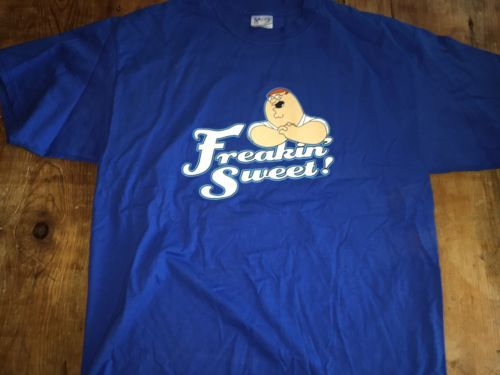 "Primary image for FAMILY GUY PETER ""FREAKIN' SWEET"" 2004 T-SHIRT EXTRA LARGE XL BLUE"