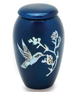 Blue Hummingbird 3 Cubic Inches Small/Keepsake Funeral Cremation Urn for... - $59.99