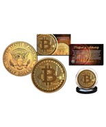 BITCOIN Physical Commemorative Crypto 24K Golden Clad JFK Half Dollar U.... - $11.85 CAD