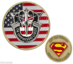 ARMY SPECIAL FORCES NOT ALL HEROES WEAR CAPE & TIGHTS SUPERMAN CHALLENGE... - $27.07