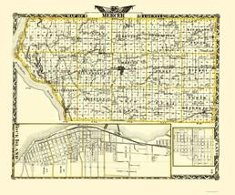 Mercer Illinois Landowner - Warner 1870 - 23 x 27.68 - $36.95+