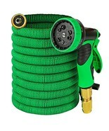 Garden Hose - Expandable 50ft Water Hose with Solid Brass Connectors , T... - £33.77 GBP