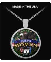 FOREVER A VETERAN WOMAN-NECKLACE - $22.95