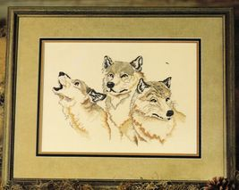 Cross Stitch All For One Wolves Wolf Stitch World Pattern - $11.99