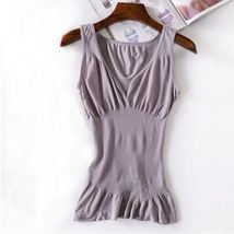 Grey Shapewear Shirt Body Shaper Maternity Top Stretch Memory Vest Slim ... - $30.70