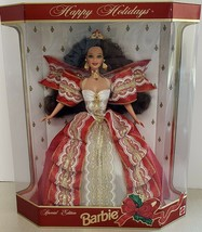 Barbie Special Edition 1997 Happy Holidays 12 Inch Doll Brunette - $49.50
