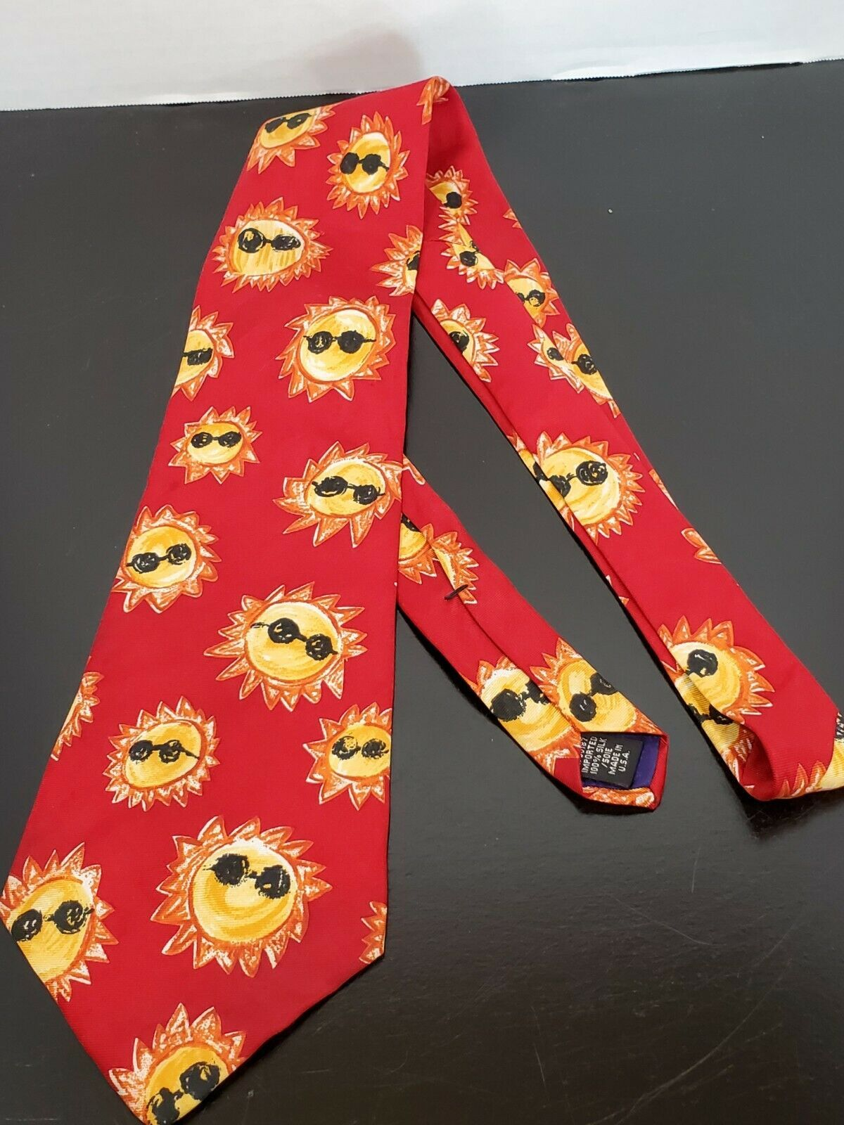 Save the Children Vintage All Silk Tie Primary colors Classic Neck Tie